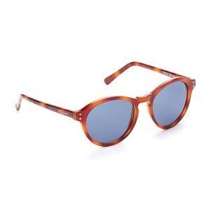 Cole Haan honey tortoise round sunglasses